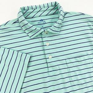 Peter Millar Seaside Wash Medium Shirt Polo Green